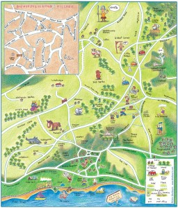 shelbourn map Bishopsteignton